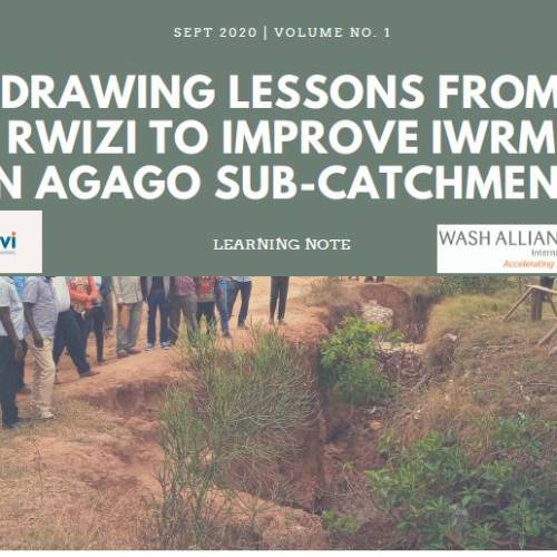 Drawing Lessons From Rwizi To Improve IWRM In Agago Sub-Catchment